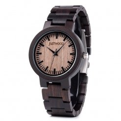 Augusta Ebony wooden watch JUSTWOOD Side