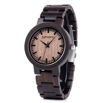 Augusta-Ebony-wooden-watch-JUSTWOOD-Side
