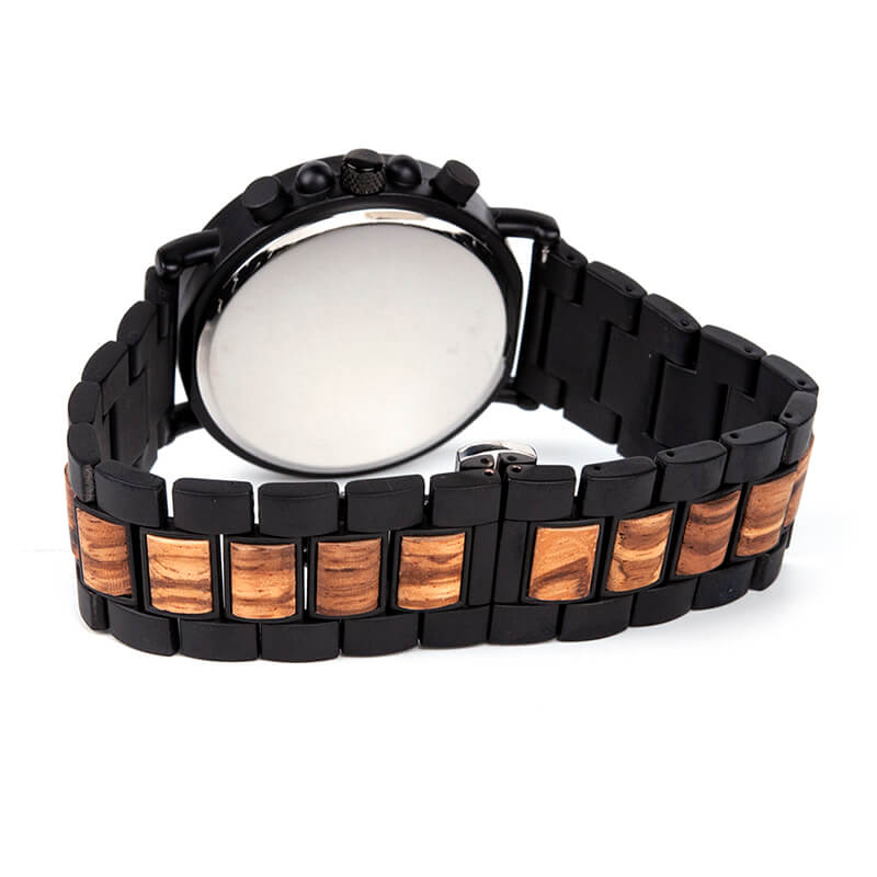 Coachmen Zebra wooden watch JUSTWOOD Back