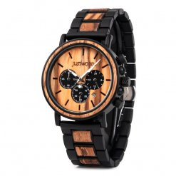Coachmen Zebra wooden watch JUSTWOOD Side