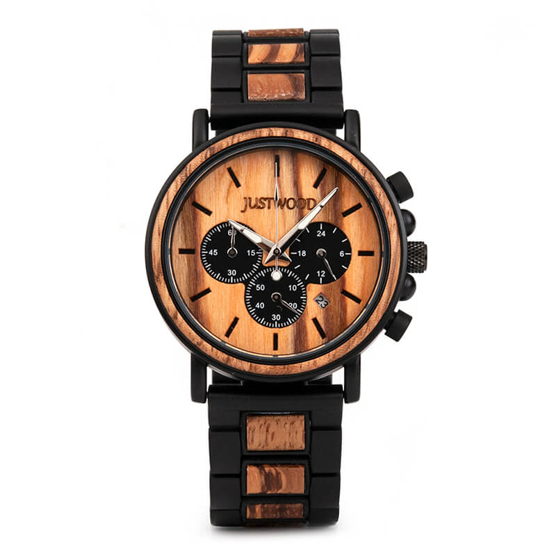 Coachmen Zebra wooden watch JUSTWOOD