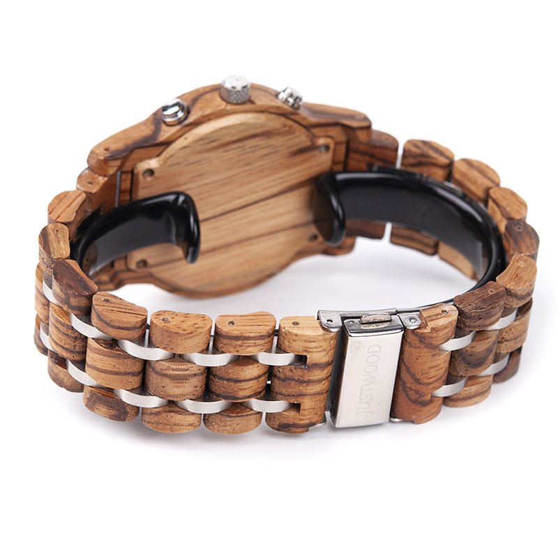 vogue silverline back wooden watch JUSTWOOD Bamboo Watches Australia Treehut wewood