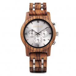 vogue silverline front wooden watch JUSTWOOD Bamboo Watches Australia Treehut wewood