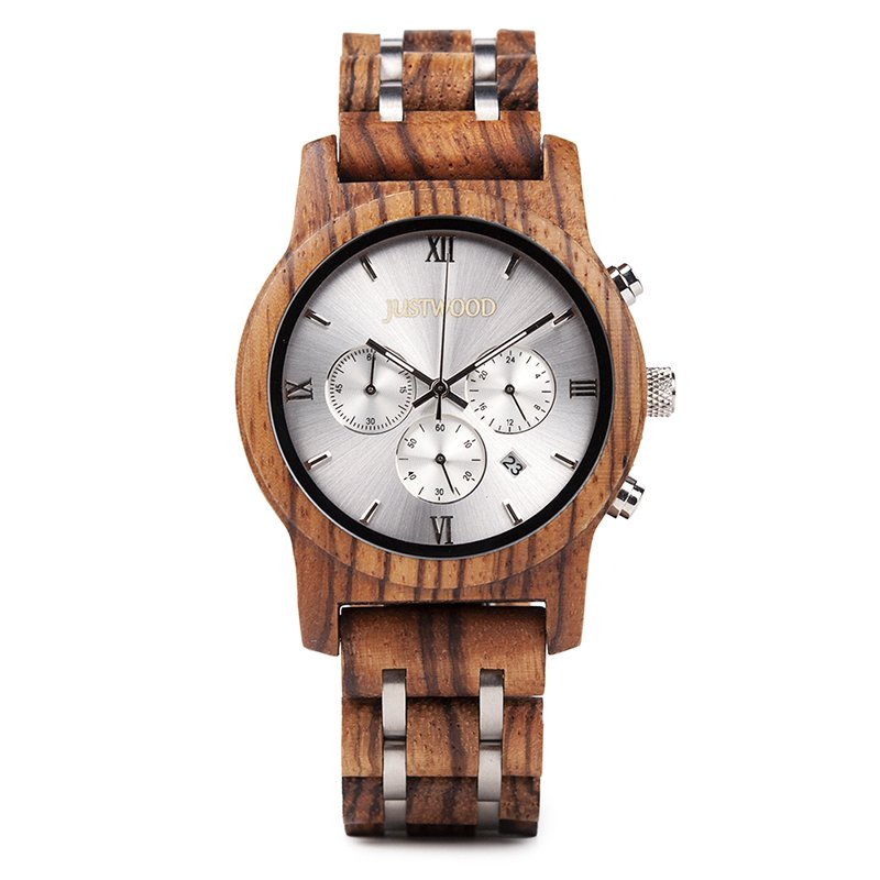vogue silverline front wooden watch JUSTWOOD Bamboo Watches Australia Treehut wewood