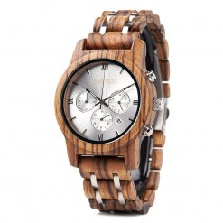 vogue silverline side wooden watch JUSTWOOD Bamboo Watches Australia Treehut wewood