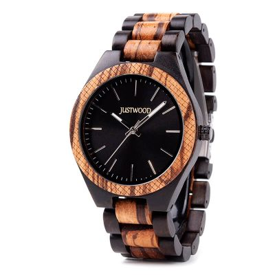 Apollo II wooden watch JUSTWOOD Side