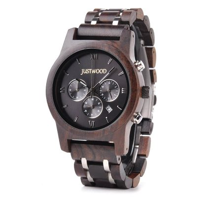 Vogue Hercules wooden watch JUSTWOOD Side