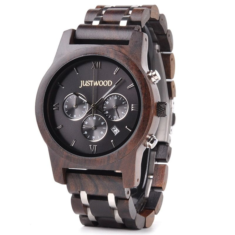 hercules mens wooden watch
