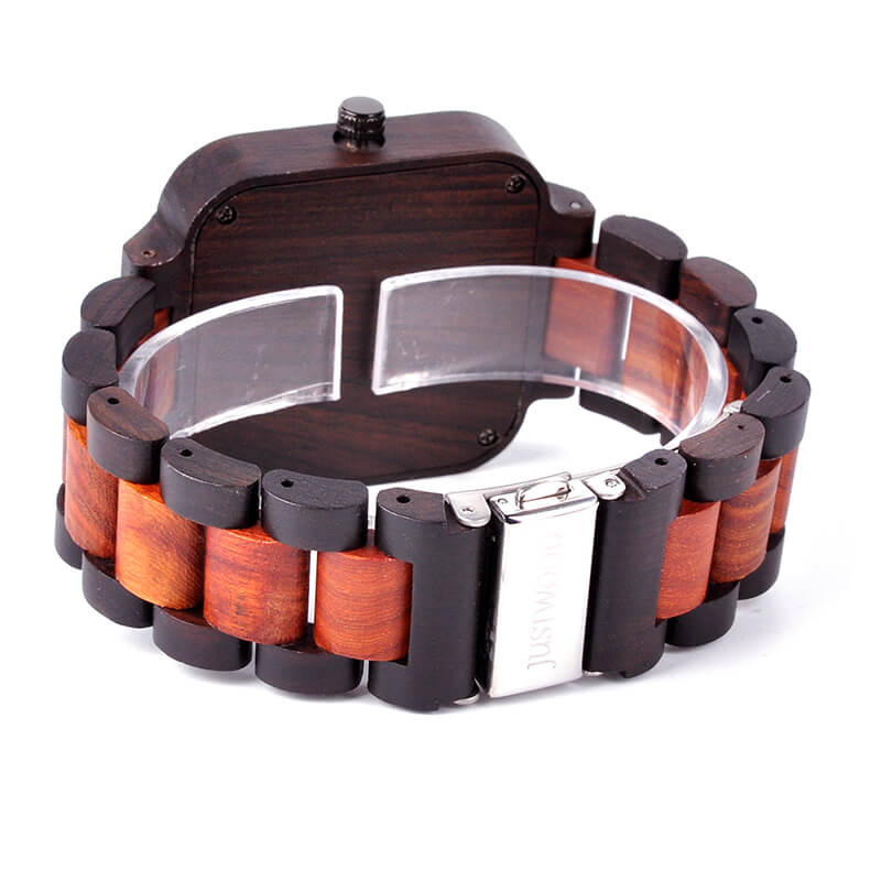 Fossil wooden watch JUSTWOOD Back