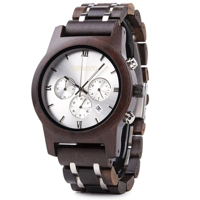 lightning wooden watch