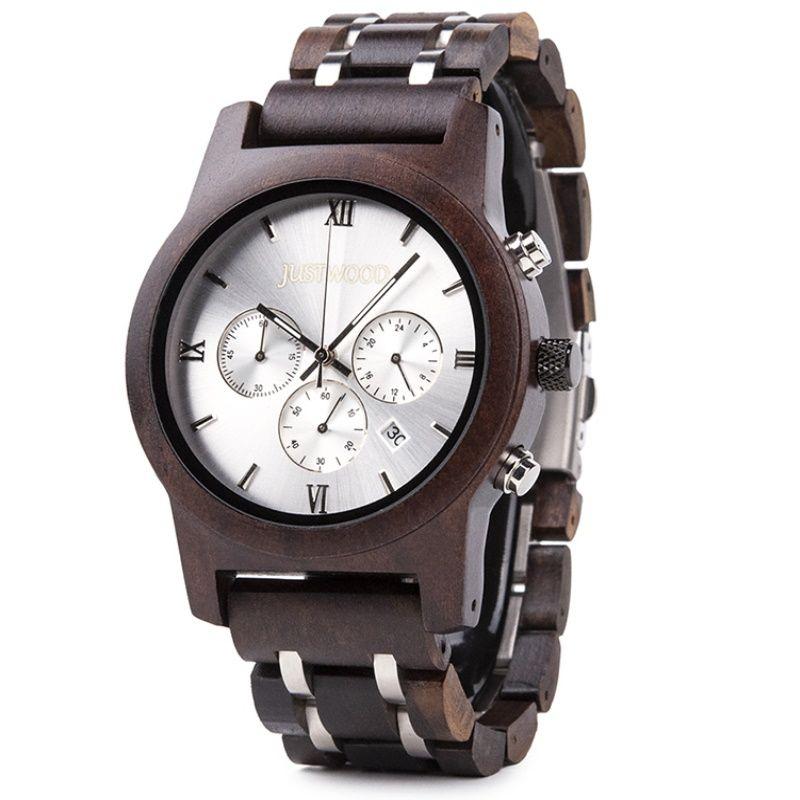 lightning wooden watch