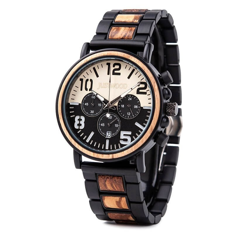 Justwood-wooden-watches-Coachmen-Executive-wooden-watch-JUSTWOOD-Side