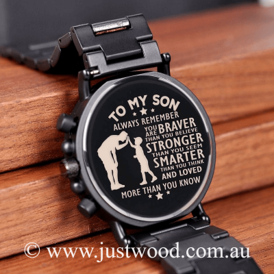 033 Engraved Mens Watch my son