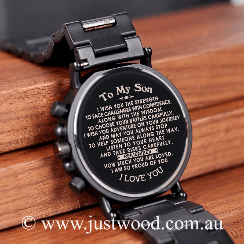 034 Engraved Mens Watch to my son
