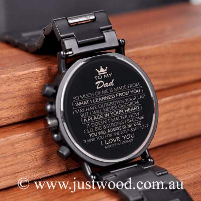 036 Engraved Mens Watch Dad