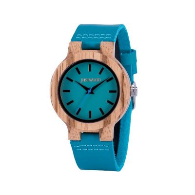 Airlie Blue Ladies Watch Wood
