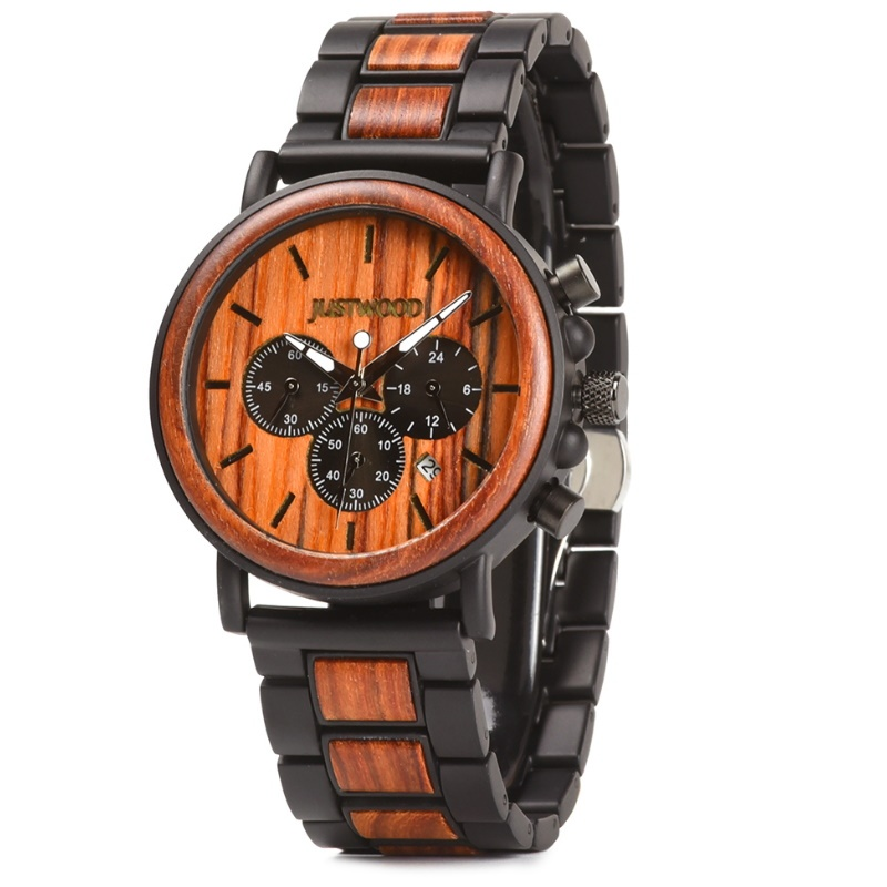 Simpson Red Mens Wooden Watch