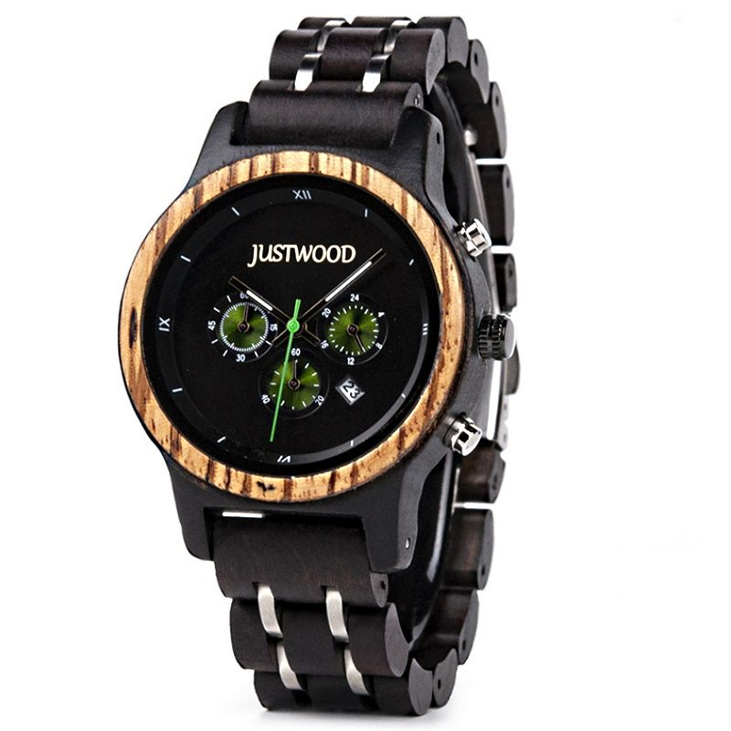 Storm mens wooden watch